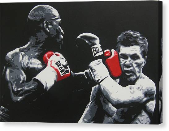 Floyd Mayweather Canvas Print - Mayweather Vs Hatton by Geo Thomson