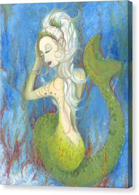 Mazzy The Mermaid Princess Canvas Print