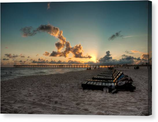 M.b. Miller County Pier Canvas Print