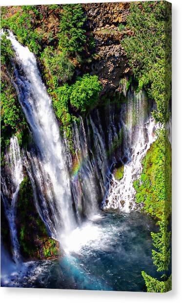 Mcarthur Burney Falls Rainbow Canvas Print