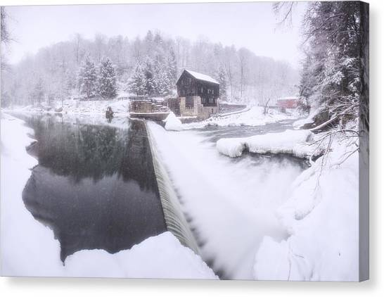 Mcconnell's Mill Winter  Canvas Print