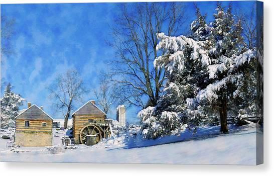 Mccormick's Farm February 2012 Series V Canvas Print by Kathy Jennings