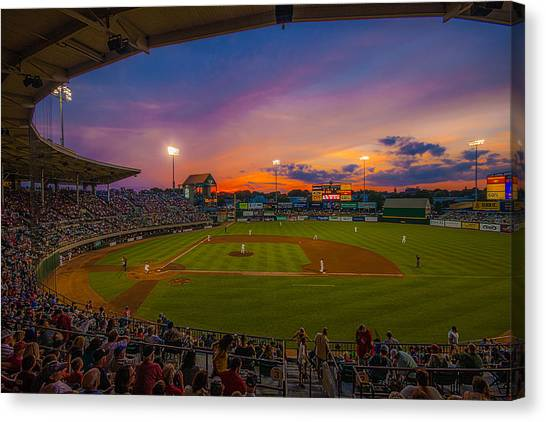 Mccoy Stadium Sunset Canvas Print