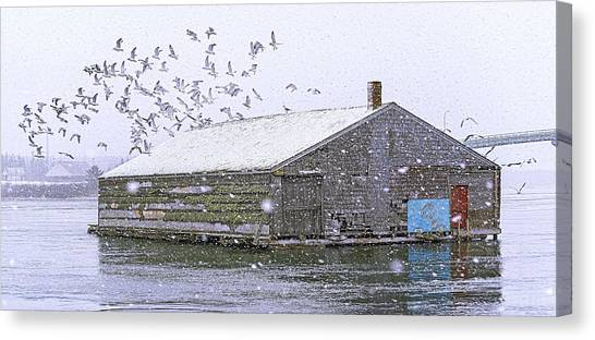 Smokehouses Canvas Print - Mccurdys Pickling And Brining Shed by Marty Saccone