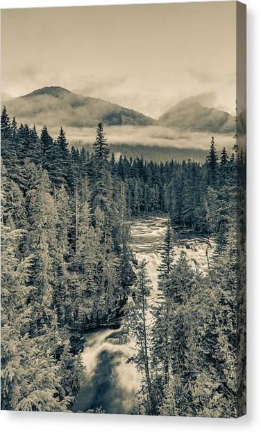 Mcdonald Creek Vertical Canvas Print