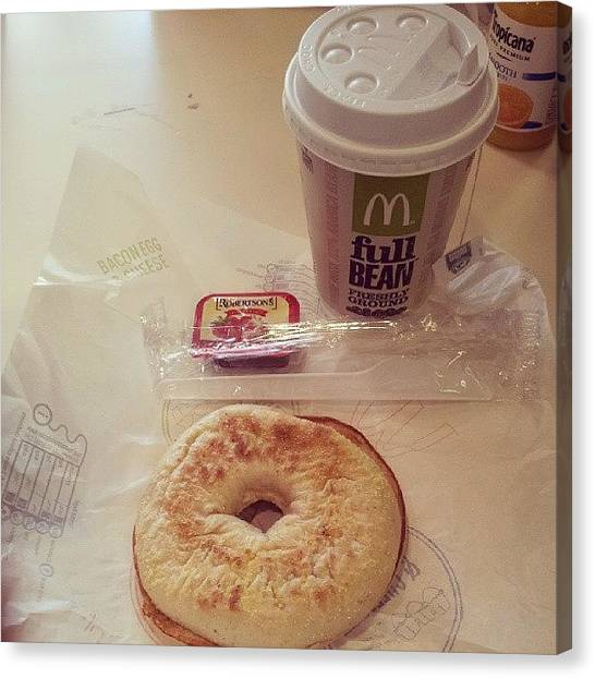 Persians Canvas Print - Mcdonalds Breakfast. Jam Toasted Bagel by Mohsen Khan   Alexander Pathan Yusufzai
