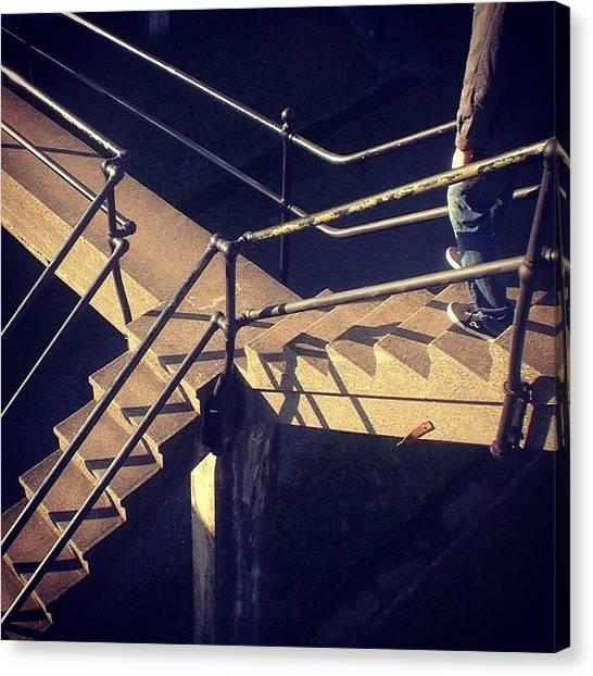 Vertigo Canvas Print - #mcescher #relativity #stairs #ftcasey by Jenny Coale