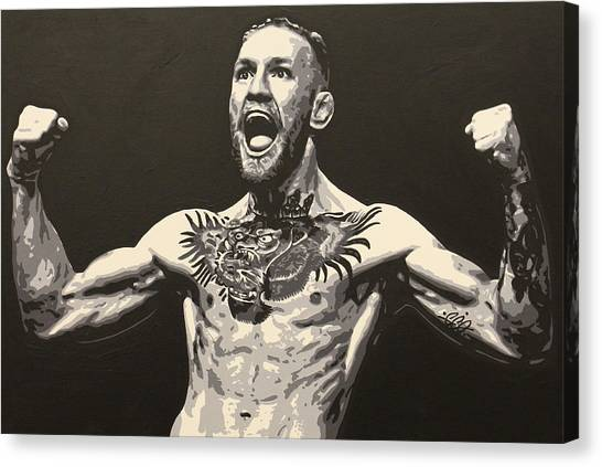 Mma Canvas Print - Mcgregor by Geo Thomson