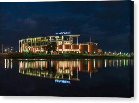 Mclane Stadium At Night Canvas Print