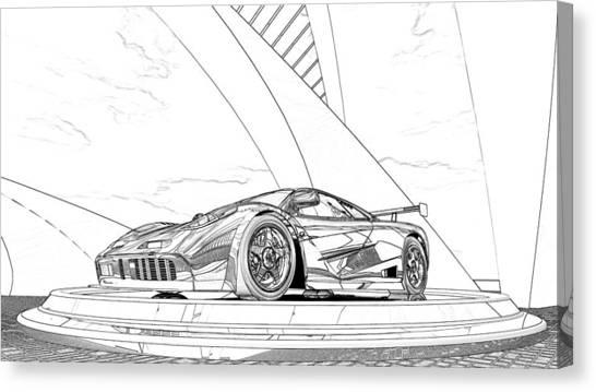 Mclaren F1 Sketch Canvas Print
