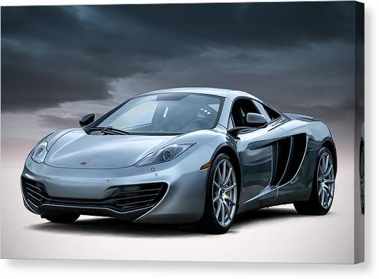 British Canvas Print - Mclaren Mp4 12c by Douglas Pittman