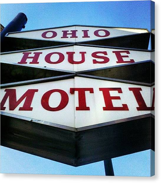 Red Canvas Print - Mcm Motel by Jill Tuinier