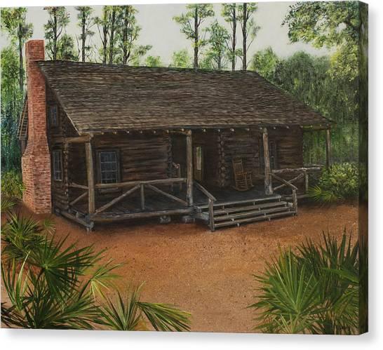 Mcmullen Log Cabin Canvas Print