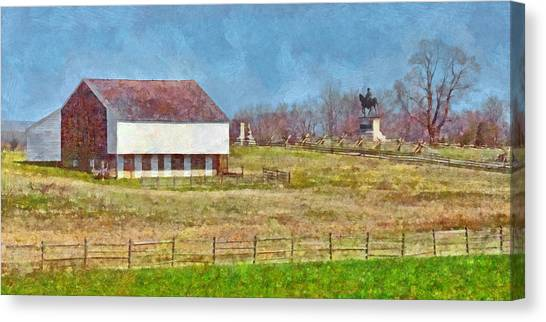 Mcpherson's Barn At Gettysburg National Military Park Canvas Print