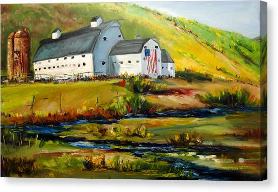 Mcpolin Park City Utah Barn Canvas Print