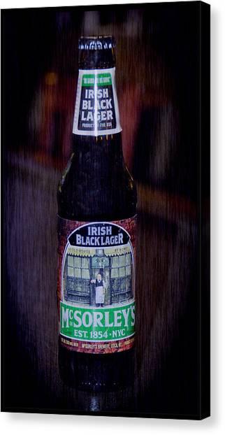 Pint Glass Canvas Print - Mcsorleys Ny Irish Black Lager by LeeAnn McLaneGoetz McLaneGoetzStudioLLCcom