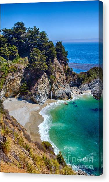 Mcway Falls At Julia Pfeiffer Burns State Park Canvas Print