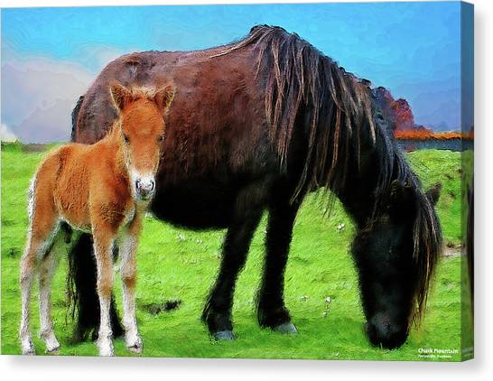 Me And Mum Canvas Print