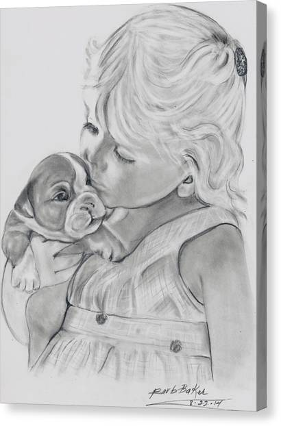 Me And My Puppy Canvas Print