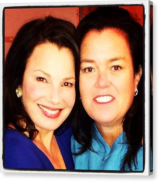 Canvas Print - Me N The Nanny !!! by Rosie Odonnell