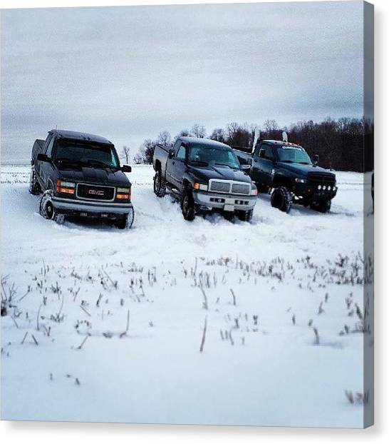 Dodge Canvas Print - Me Nd The Boys Havin Some Fun! #snow by Jd Long