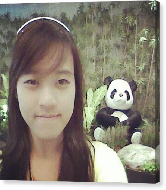 Panda Canvas Print - Me Plus @seungriseyo ? Kkk Changi by Karina Fidela