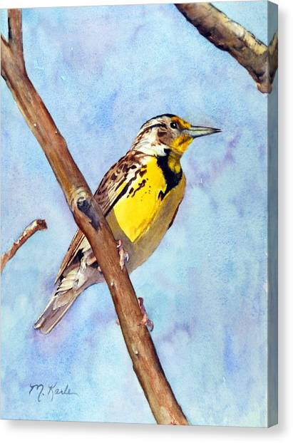 Meadowlark Sunrise Canvas Print