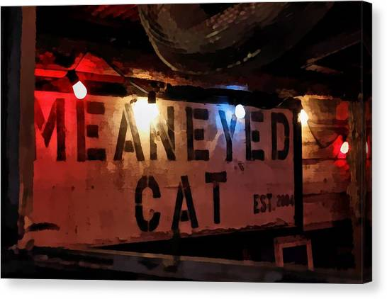 Mean Eyed Cat Bar Canvas Print by James Stough