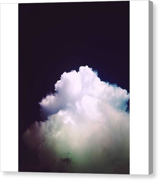 Rainclouds Canvas Print - Meanwhile In Texas... #texas by Michael Ramos