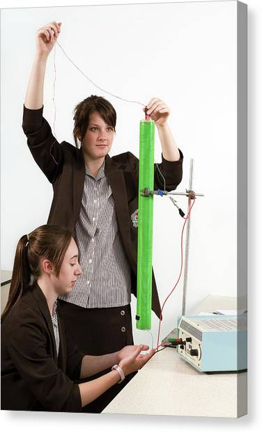 Measuring Electromagnetic Induction Canvas Print by Trevor Clifford Photography