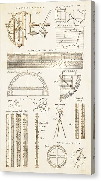 Protractors Canvas Print - Measuring Instruments And Techniques. by David Parker