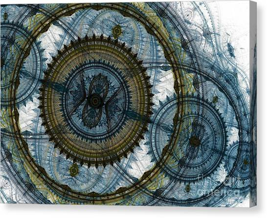 Mechanical Circles Canvas Print