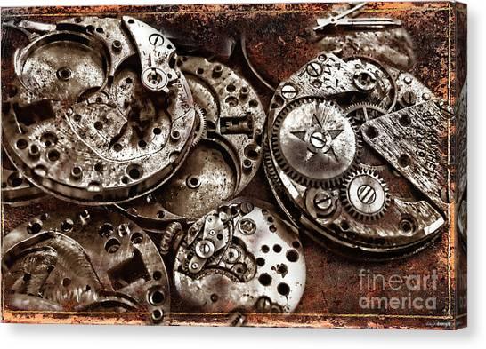 Rusty Watch Mechanism Canvas Print