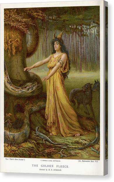 Medea, Daughter Of Aeetes King Canvas Print by Mary Evans Picture Library