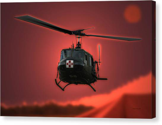 Medivac Canvas Print - Medevac The Sound Of Hope by Thomas Woolworth