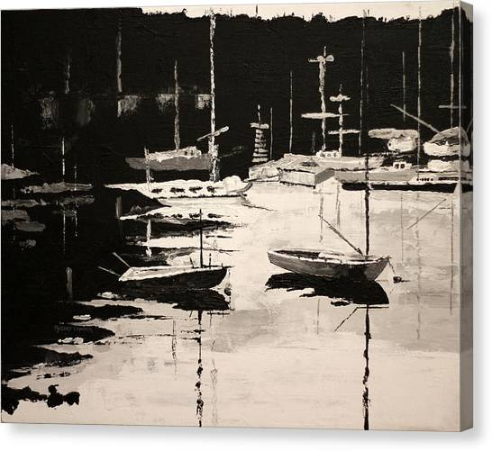 Medford Boat Club Canvas Print by Robert Crooker