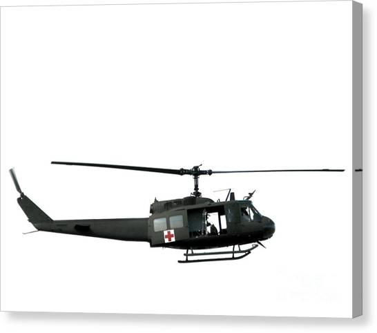 Medivac Canvas Print - Medic Helicopter by Olivier Le Queinec