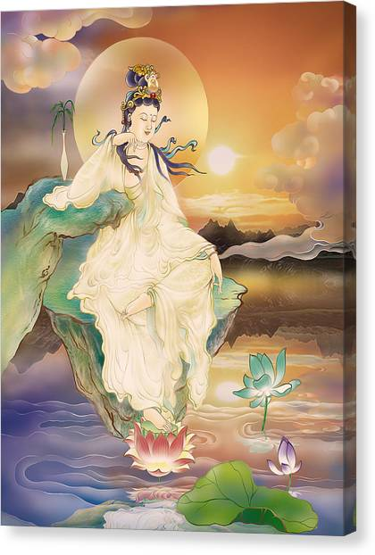 Medicine-giving Kuan Yin Canvas Print