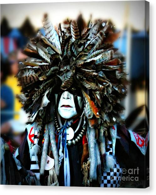 Medicine Man Headdress Canvas Print by Scarlett Images Photography