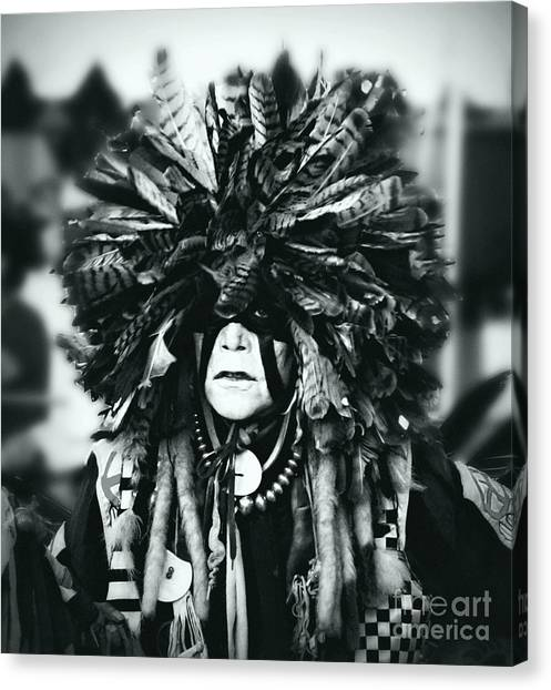 Medicine Man Silver Screen Canvas Print by Scarlett Images Photography