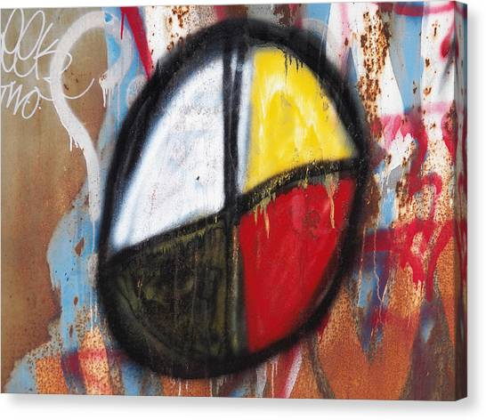 Medicine Wheel Graffiti Canvas Print