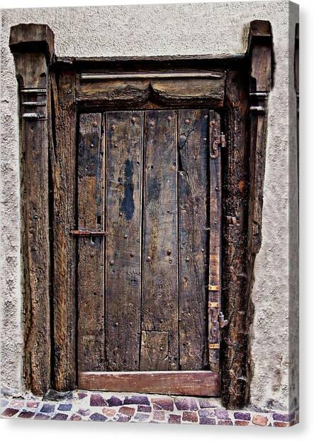 Medieval Door Canvas Print