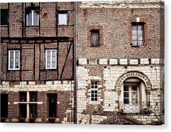 Brick House Canvas Print - Medieval Houses In Albi France by Elena Elisseeva