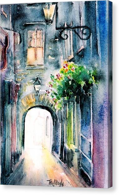 The Butter Slip  Medieval Street Kilkenny I Canvas Print
