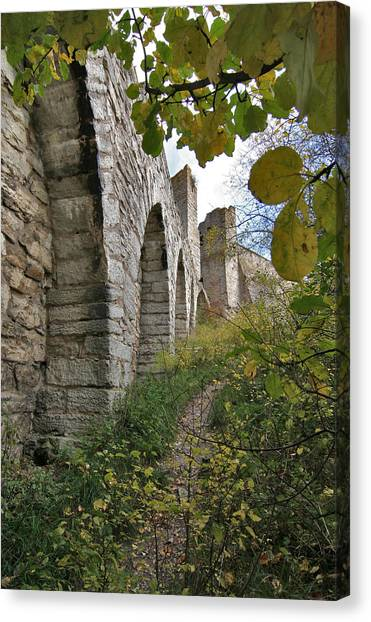 Medieval Town Wall Canvas Print