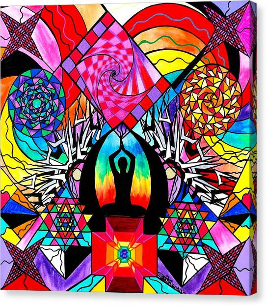 Sacred Canvas Print - Meditation Aid by Teal Eye Print Store