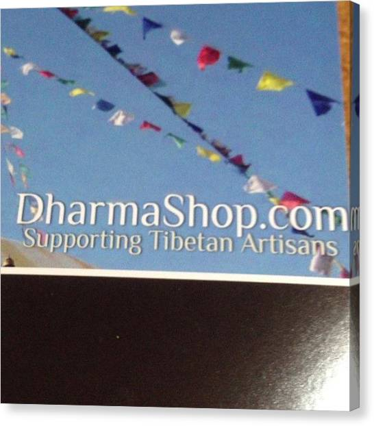 Om Canvas Print - #meditation #haul @thedharmashop My by Sandra Bilokonsky