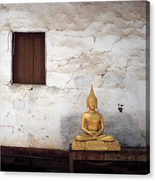 Meditation In Laos Canvas Print