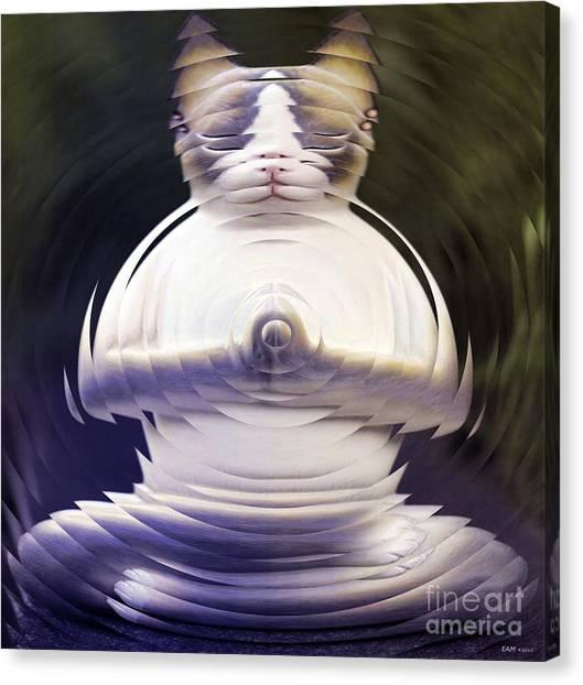 Meditation Kitty Canvas Print