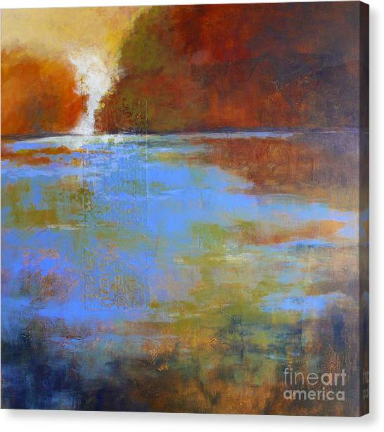 Meditation Place No. 3 Canvas Print by Melody Cleary